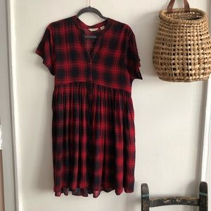 Anthropologie Mona Plaid Dress